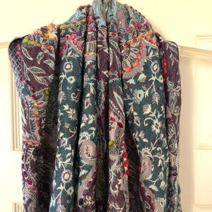 Accessories - Brocade Paisley Infinity Scarf